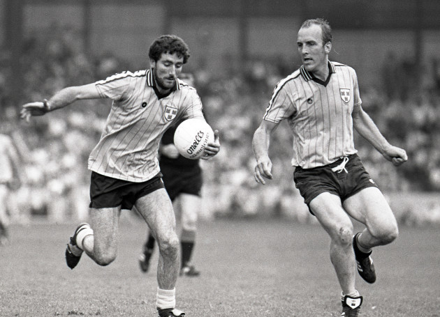 Ciaran Duff supported by Brian Mullins