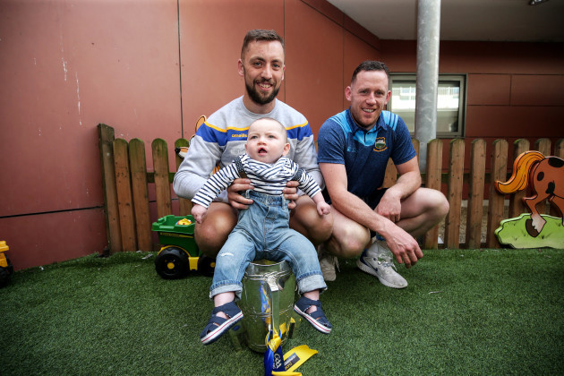 James Barry and Sean O'Brien with Liam Tomney