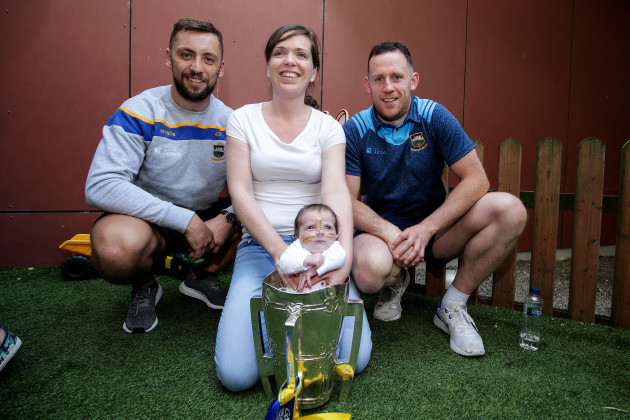 James Barry and Sean O'Brien with Stacey and Leila Hughes