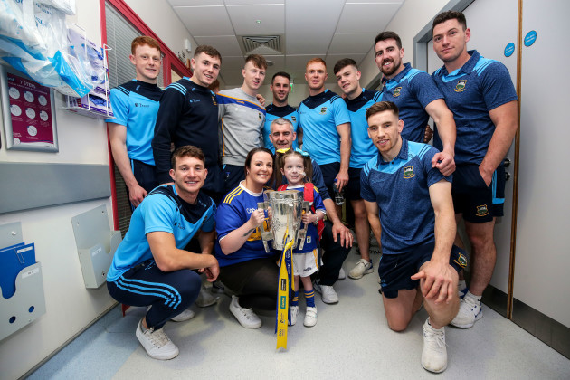 Holly Carroll with members of the Tipperary team