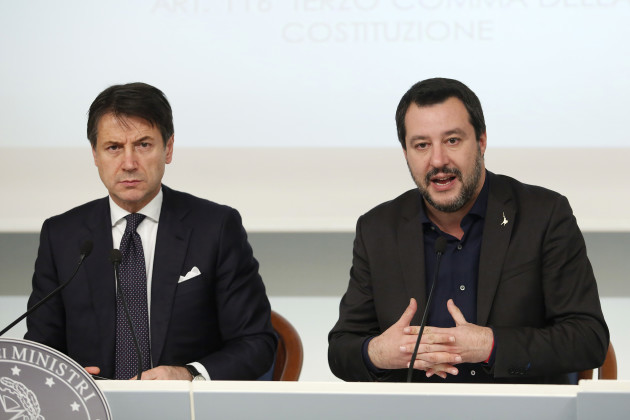 Italy: Cabinet Press Conference in Rome