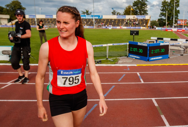 Ciara Mageean	next to her time after the women's 800m race