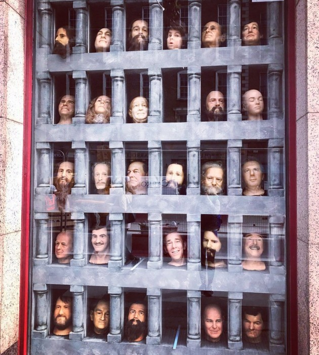 Wax Museum WALL OF HEADS