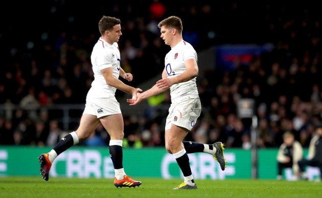 George Ford comes on to replace Owen Farrell