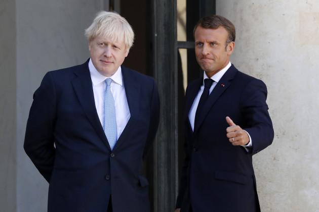 FRANCE-PARIS-BRITISH PM-BORIS JOHNSON-VISIT