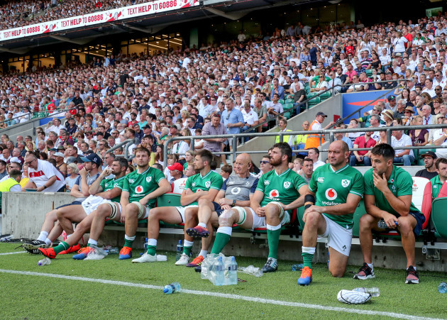 rob-kearney-iain-henderson-ross-byrne-rob-revins-jean-kleyn-rory-best-and-conor-murray-watch-on-from-the-match