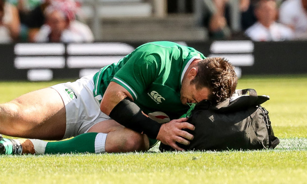 cian-healy-receives-treatment-for-an-injury