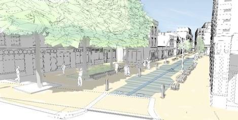 Artists Impression of proposed Liffey Street Lower Plaza (1)