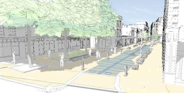 Artists Impression of proposed Liffey Street Lower Plaza (1)