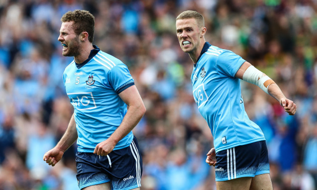 jack-mccaffrey-celebrates-after-scoring-a-goal-with-paul-mannion
