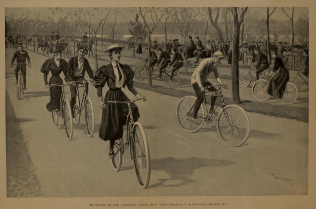 people-bicycles-transportation-historical