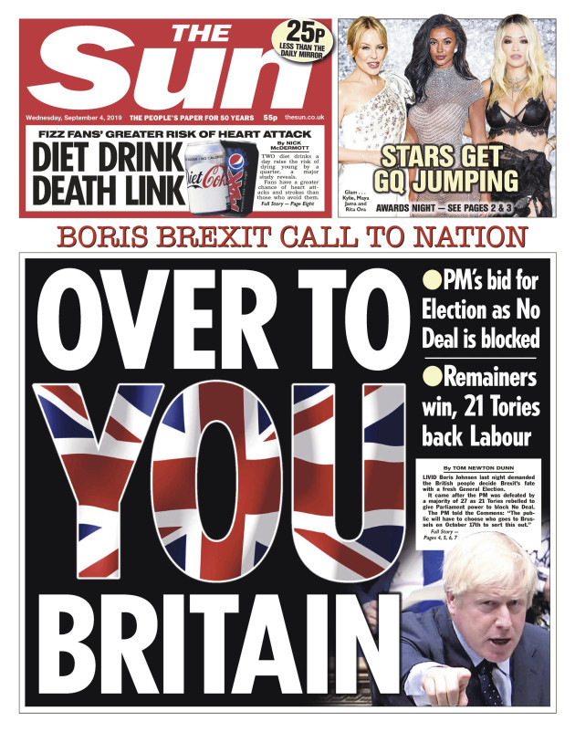 the-sun-front-page-04-09-19-over-to-you-britain-boris-johnson