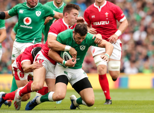 robbie-henshaw-tackled-by-josh-adams-and-leigh-halfpenny