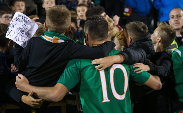 troy-parrott-celebrates-after-the-game-with-fans