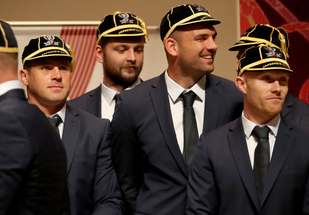 cj-stander-iain-henderson-tadhg-beirne-and-keith-earls-at-the-rugby-world-cup-cap-presentation