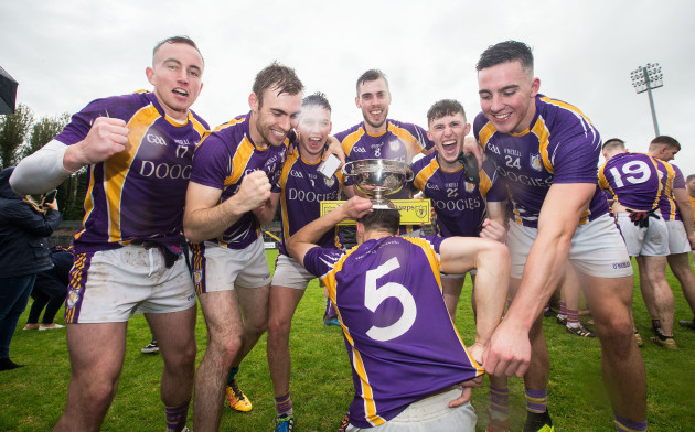 derrygonnelly-celebrate-after-the-game-with-the-trophy