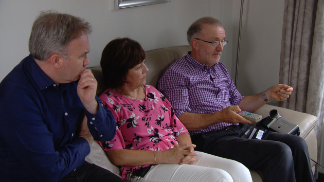 RTE Prime Time - Reporter Barry Cummins with parents of murdered Nichola Sweeney, Josephine and John