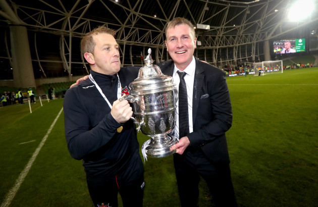 stephen-kenny-and-vinny-perth-celebrate-with-the-irish-daily-mail-fai-cup