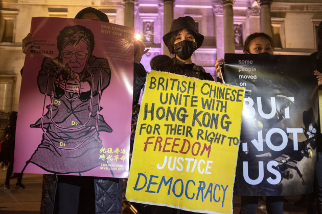 rally-against-hong-kong-emergency-law-and-mask-ban-in-london-04-oct-2019