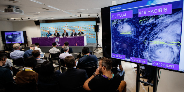 a-view-of-the-press-briefing-ahead-of-typhoon-hagibis