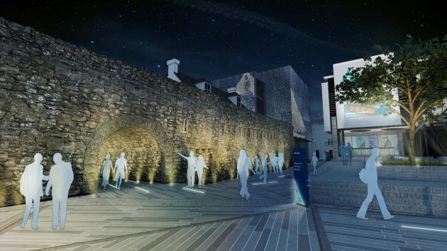Artist's impression - Plaza by night  (Credit - Haley Sharpe Design)  (1)
