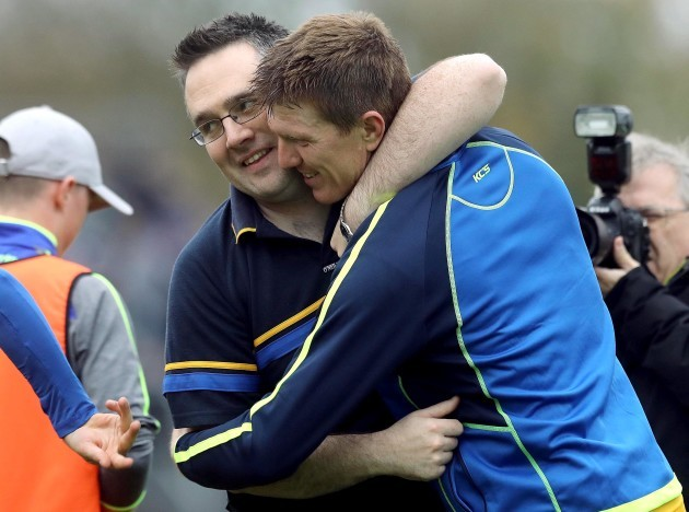 manager-john-omeara-and-niall-gilligan-of-sixmilebridge-celebrate-at-the-final-whistle