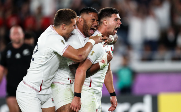 Beauden Barrett ben-youngs-celebrates-a-try-with-henry-slade-and-manu-tuilagi-that-was-later-disallowed