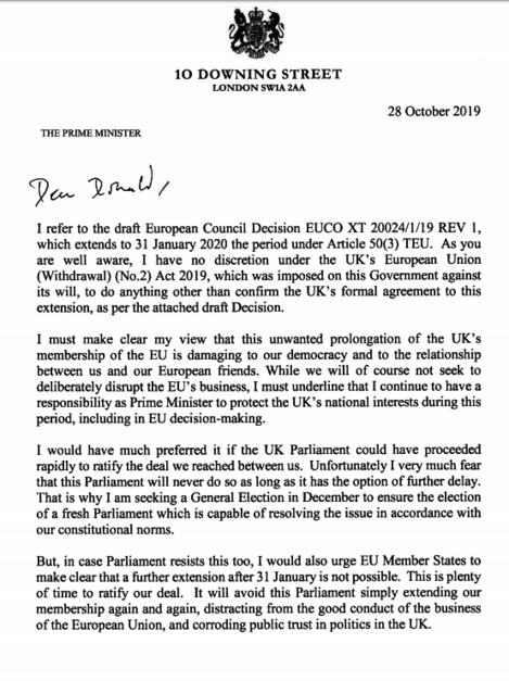 letter to tusk