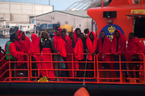arrival-of-73-migrants-to-malaga-port-spain-07-aug-2019