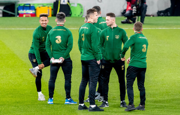 republic-of-ireland-players-on-the-pitch-before-the-game