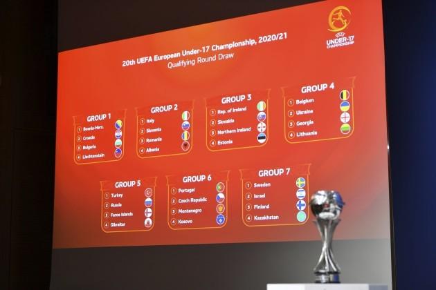Ireland U17s draw