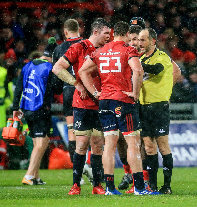 peter-omahony-and-arno-botha-speak-with-referee-romain-poite