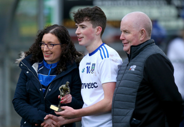 aaron-mulligan-is-presented-with-his-man-of-the-match-award
