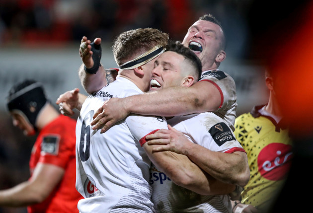 matthew-rea-celebrates-scoring-a-try-with-john-cooney