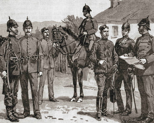 officers-and-men-of-the-royal-irish-constabulary-in-the-19th-century-the-armed-police-force-of-the-united-kingdom-in-ireland-until-1922-from-the-century-edition-of-cassells-history-of-england-publ