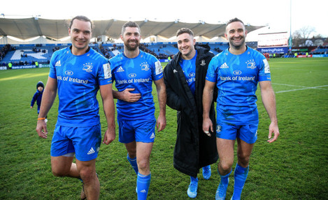 james-lowe-rob-kearney-jordan-larmour-and-dave-kearney-after-the-game