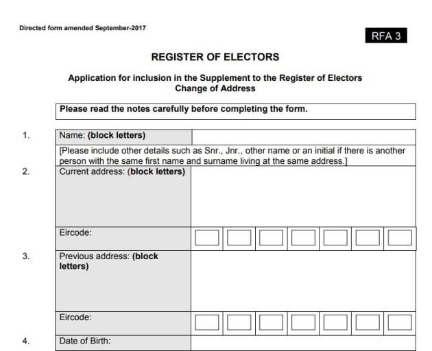 Register change of address
