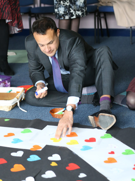 531 Leo Varadkar in Castleknock Community College