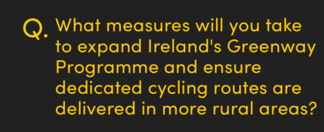 What measures will you take to expand Ireland's Greenway Programme and ensure dedicated cycling routes are delivered in more rural areas