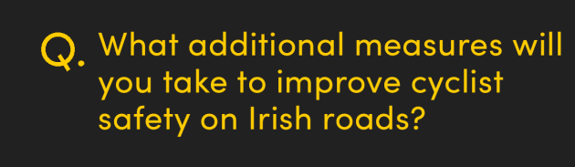 What additional measures will you take to improve cyclist safety on Irish roads