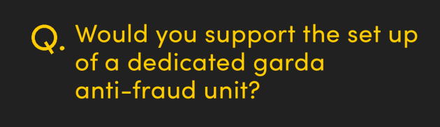 Would you support the set up of a dedicated garda anti-fraud unit