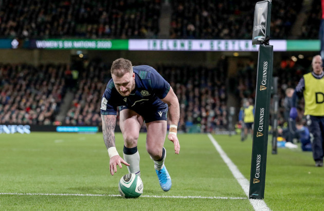 stuart-hogg-knocks-the-ball-on-at-the-try-line