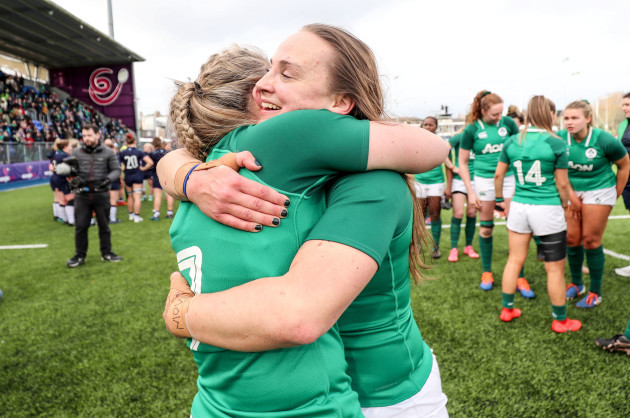 edel-mcmahon-celebrates-with-michelle-claffey-after-the-game