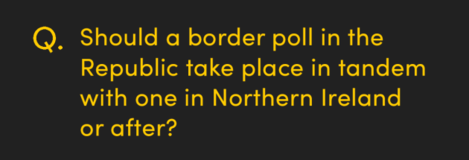 Should a border poll in the Republic take place in tandem with one in Northern Ireland or after