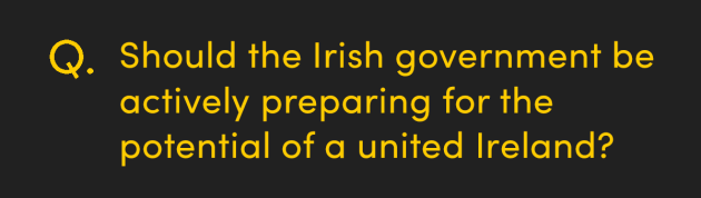 Should the Irish government be actively preparing for the potential of a united Ireland