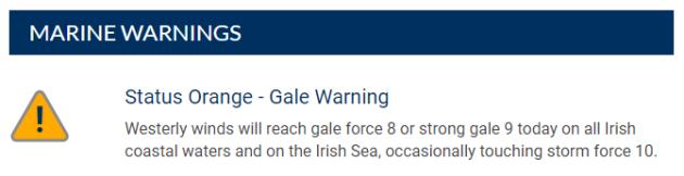 marine warning