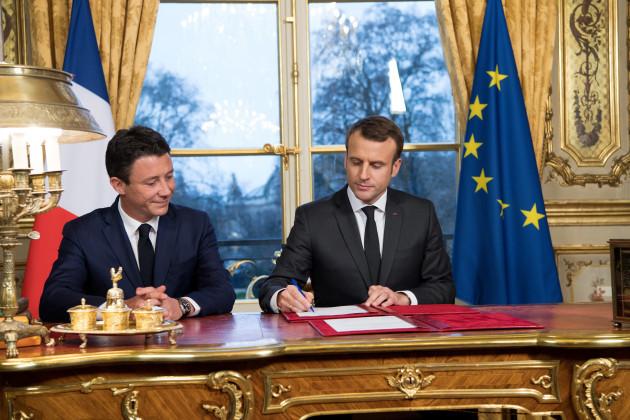french-president-macron-signs-legal-texts-paris