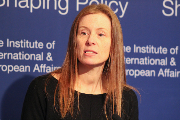 Monika Bickert, Facebook's Vice President for Global Policy Management and Counterterrorism, addressing the IIEA