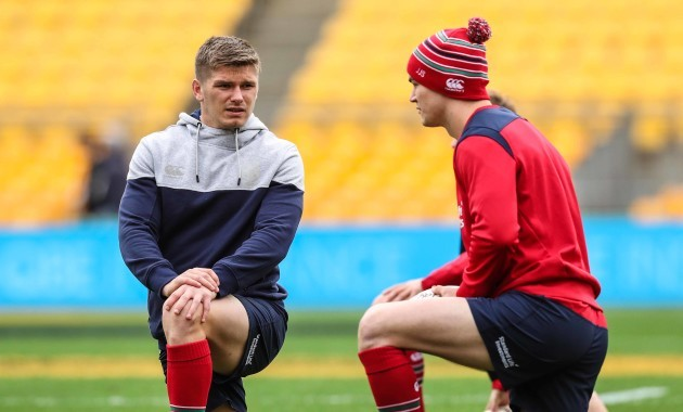 british-and-irish-lions-owen-farrell-and-jonathan-sexton-during-the-kicking-practice