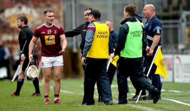 killian-doyle-leaves-the-pitch-after-being-is-sent-off